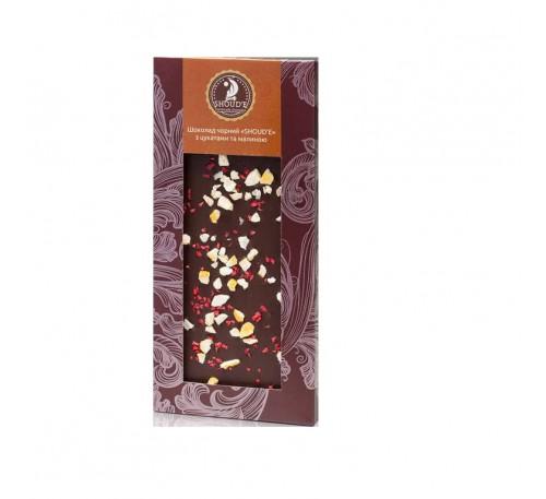 """Шоколад черный """"SHOUD'E"""" с цукатами и малиной"""