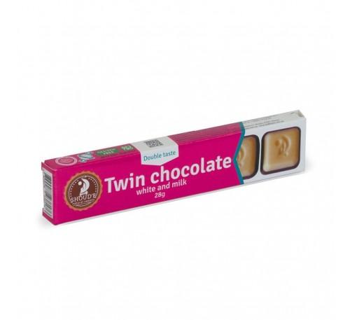 """Шоколад двойной """"SHOUD'E"""" белый и молочный"""
