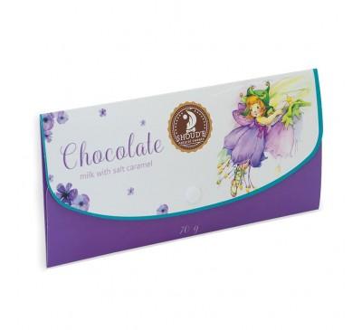 """Шоколад """"Клатч"""" молочный с соленой карамелью"""