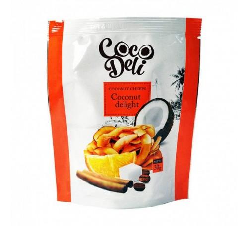 """Кокосовые чипсы """"Апельсин и корица"""" , 30г"""