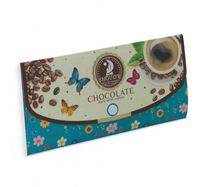 """Шоколад """"Клатч"""" черный с кофе"""