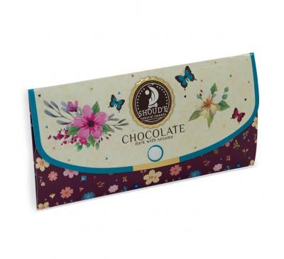 """Шоколад """"Клатч"""" черный с сезамом"""