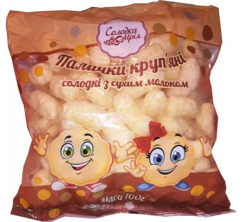 Палочки курузные сладкие молочные