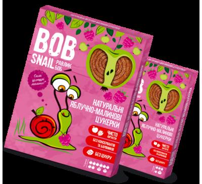 Натуральные яблочно-малиновые конфеты Bob Snail Равлик Боб, 60 г
