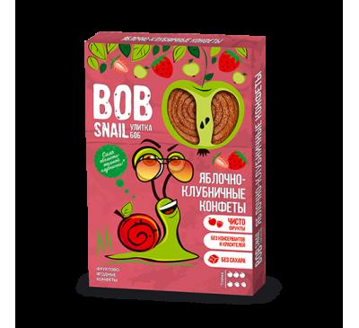 Натуральные яблочно-клубничные конфеты Bob Snail Равлик Боб, 60 г